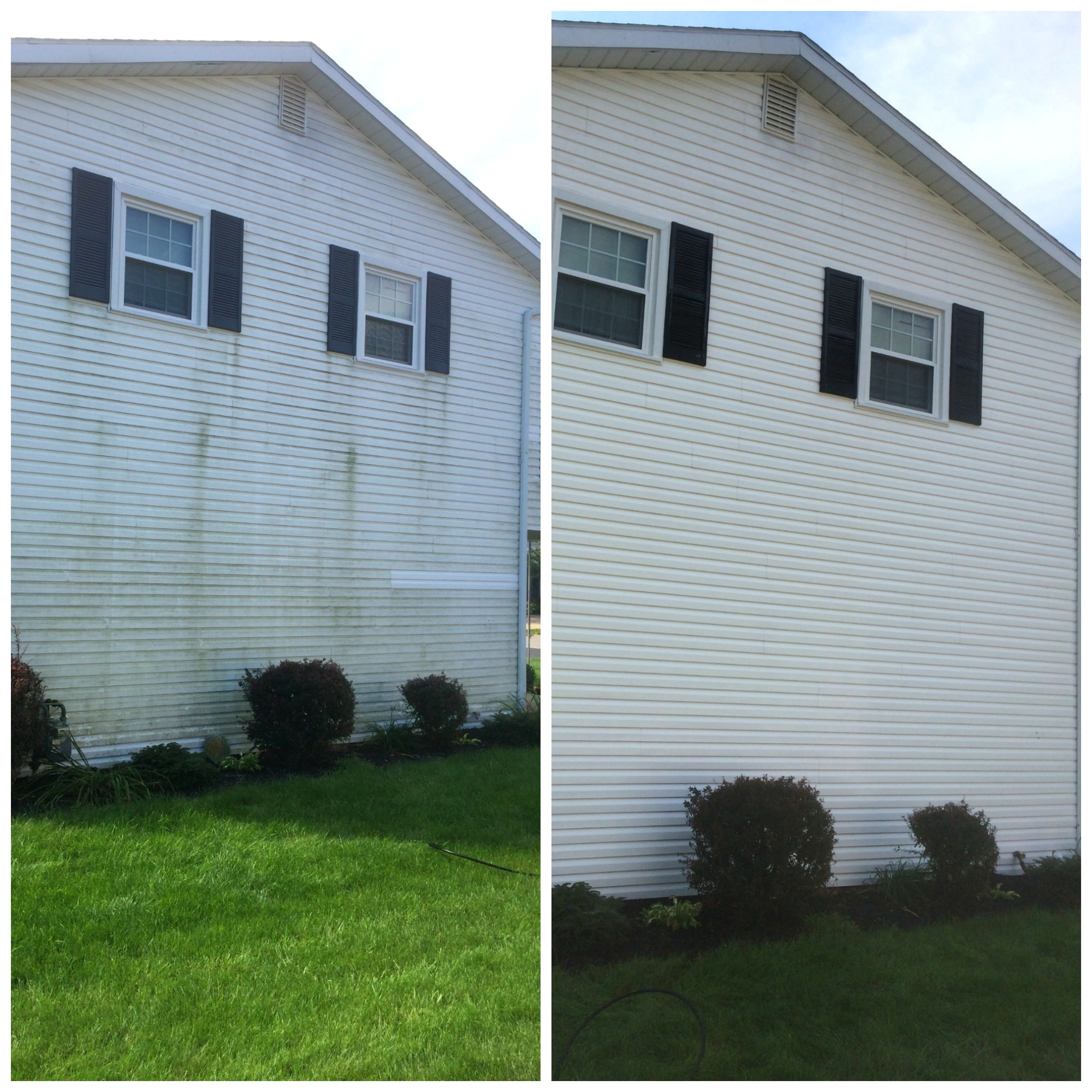 Anderson Pressure Washing, houes washing before and after