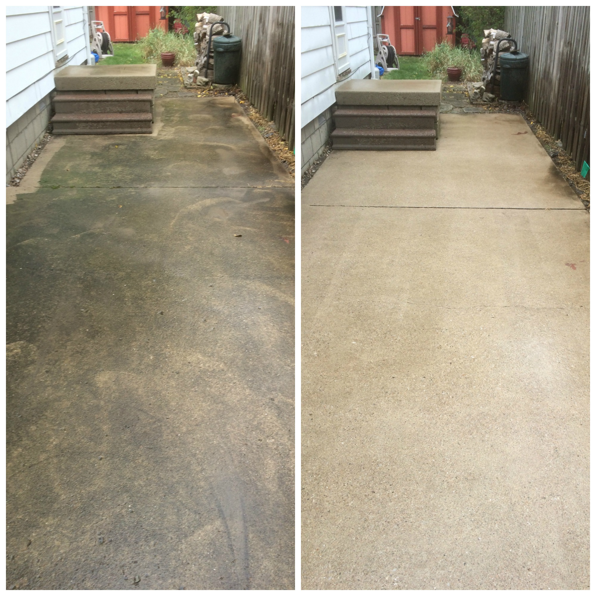 Services for Pressure wash concrete patio