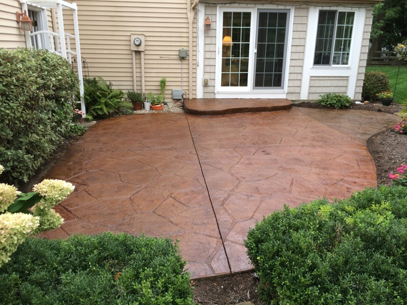 Anderson Pressure Washing  Recoloring stamped concrete in Bowling Green Ohio