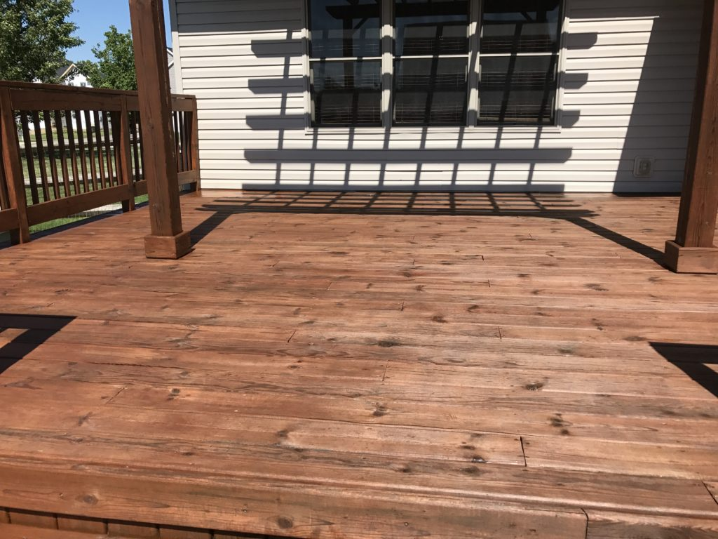 anderson pressure washing deck sealing waterville Ohio