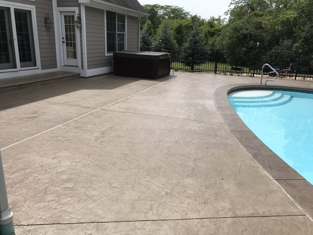 anderson pressure washing stamped concrete resealing in perrysburg ohio