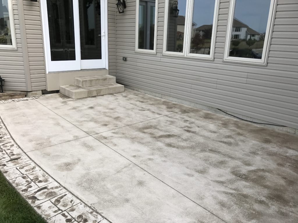 Anderson Pressure Washing Stamped concrete cleaning
