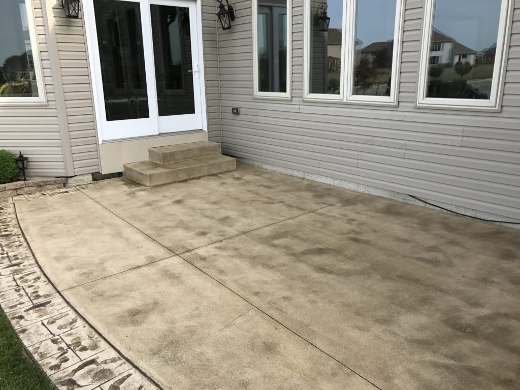 Anderson pressure washing Resealing a stamped patio in Perrrysburg Ohio