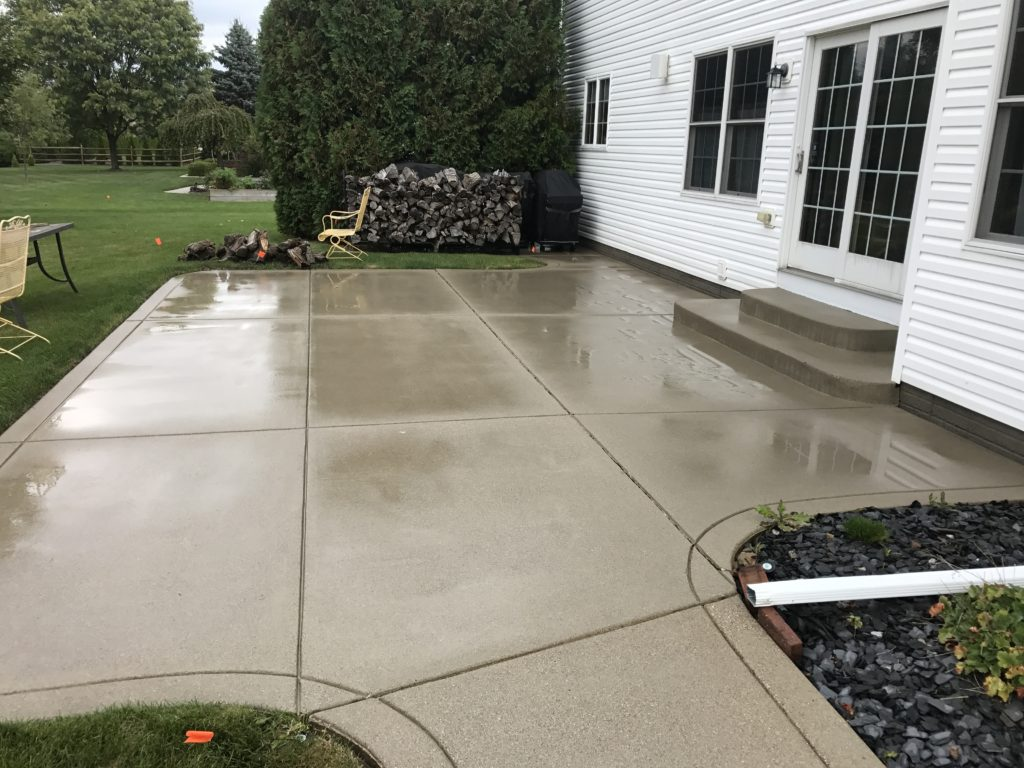 pressure washing conrcete